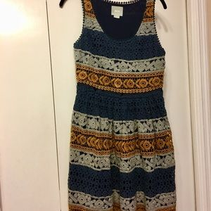MAEVE Crochet Waisted Dress By ANTHROPOLOGIE
